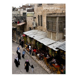 Calle de la ciudad vieja Jerusalén Postal