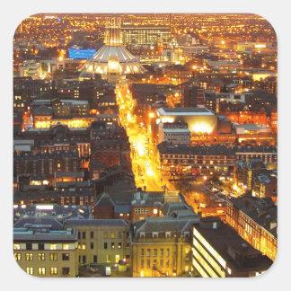 calle de la esperanza, Liverpool Reino Unido Pegatina Cuadrada