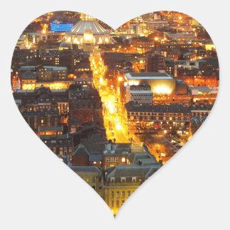 calle de la esperanza, Liverpool Reino Unido Pegatina En Forma De Corazón