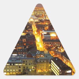 calle de la esperanza, Liverpool Reino Unido Pegatina Triangular