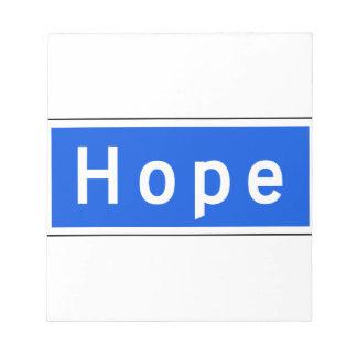 Calle de la esperanza, Los Ángeles, placa de calle Bloc De Notas