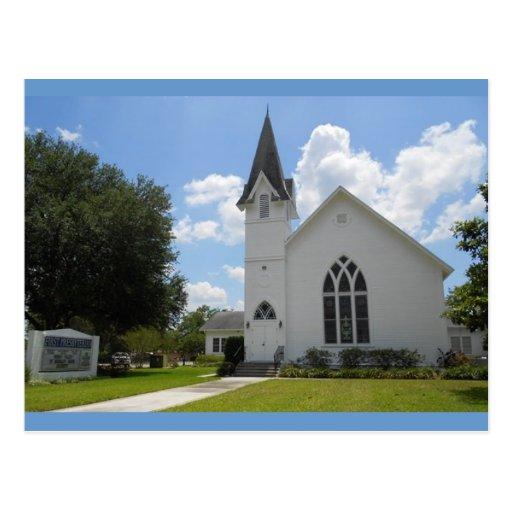 Calle de la iglesia, ciudad la Florida de Dade Tarjeta Postal