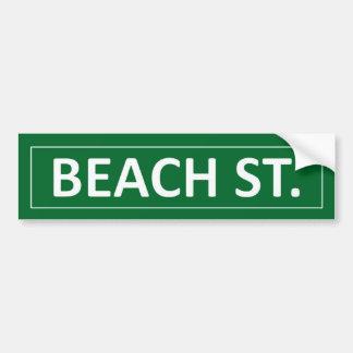 Calle de la playa pegatina para auto
