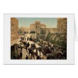 Calle de la torre de David, el bazar, Jerusale Tarjetón