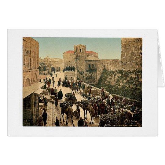 Calle de la torre de David, el bazar, Jerusale Tarjeta De Felicitación