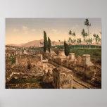 Calle de las tumbas, Pompeya, Campania, Italia Poster