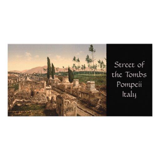 Calle de las tumbas, Pompeya, Campania, Italia Tarjeta Fotográfica