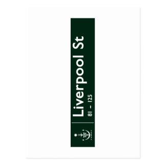 Calle de Liverpool, Sidney, placa de calle Postal
