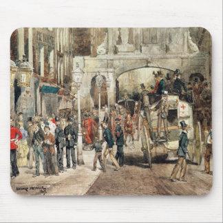 Calle de Londres, 1869 Alfombrillas De Ratón
