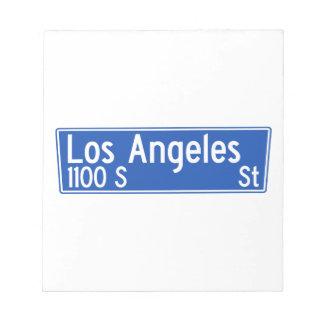 Calle de Los Ángeles, Los Ángeles, placa de calle Libreta Para Notas