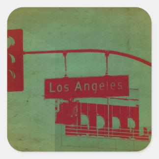 Calle de Los Ángeles Pegatina Cuadrada