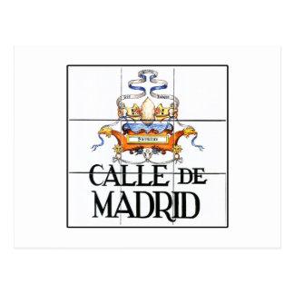 Calle de Madrid, Madrid Street Sign Postcard