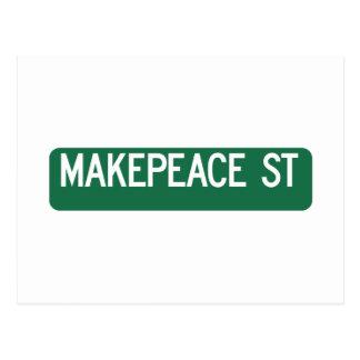 Calle de Makepeace, señal de tráfico, Postales
