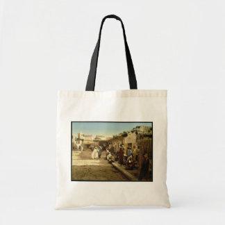 Calle de Marr, vintage Photochrom de Túnez, Túnez Bolsas