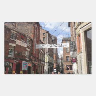Calle de Mathew en Liverpool Rectangular Altavoces