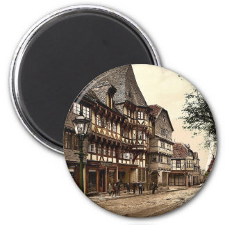 Calle de mercado, Goslar, Hartz, Alemania magnífic Imán Redondo 5 Cm