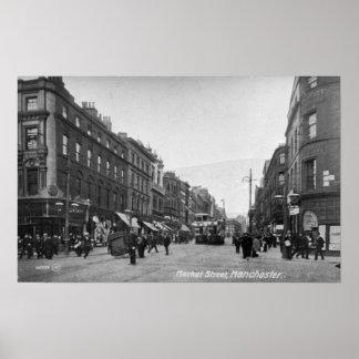 Calle de mercado, Manchester, c.1910 2 Póster