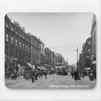 Calle de mercado, Manchester, c.1910 2 Tapete De Ratones