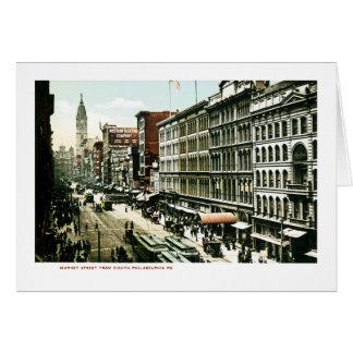 Calle de mercado, Philadelphia, PA Tarjeta