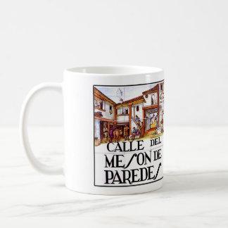 Calle de Meson de Paredes, Madrid Street Sign Classic White Coffee Mug