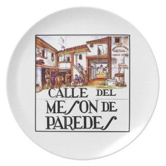 Calle de Meson de Paredes, Madrid Street Sign Plates