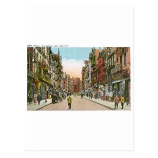 Calle de Mott, CHINATOWN, New York City (vintage) Tarjeta Postal