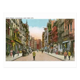 Calle de Mott CHINATOWN New York City vintage Tarjeta Postal