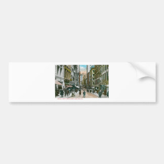 Calle de Nassau que parece del norte, New York Cit Pegatina Para Auto