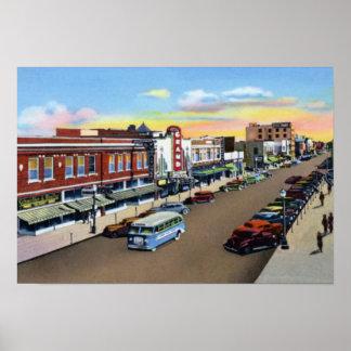 Calle de Nebraska de la isla magnífica tercera Poster