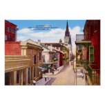 Calle de New Orleans Luisiana Chartres Posters
