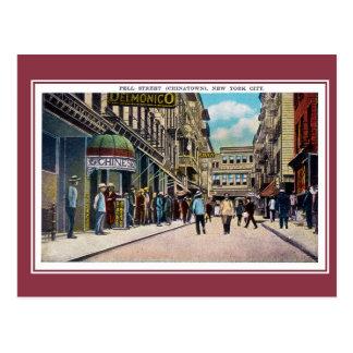 Calle de New York City Chinatown Pell del vintage Tarjetas Postales