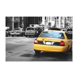 Calle de Nueva York con el taxi amarillo, NYC Impresion En Lona