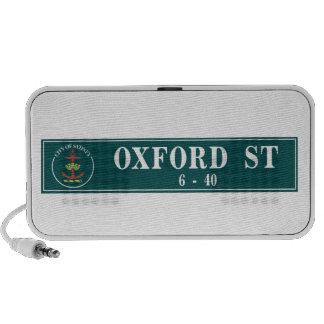 Calle de Oxford, Sidney, placa de calle Portátil Altavoces