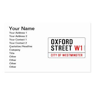 Calle de Oxford Tarjetas De Visita