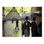 Calle de París de Caillebotte, día lluvioso Tarjetas Postales