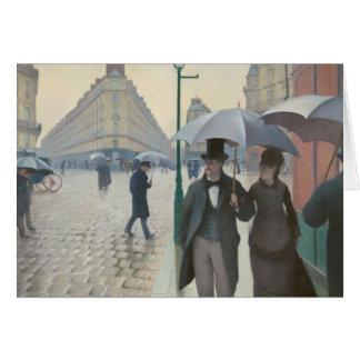 Calle de París; Día lluvioso AKA París: Un día Tarjeta De Felicitación