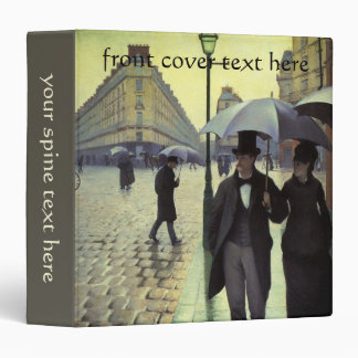 """Calle de París, día lluvioso de Gustave Carpeta 1 1/2"""""""