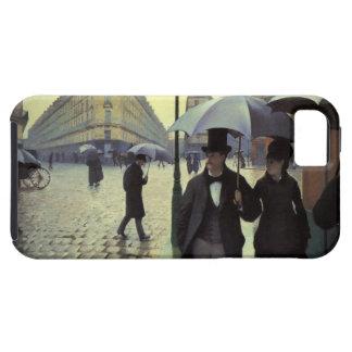 Calle de París día lluvioso de Gustave iPhone 5 Cárcasas