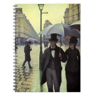 Calle de París, día lluvioso de Gustave Libros De Apuntes