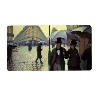 Calle de París, día lluvioso de Gustave Etiquetas De Envío
