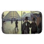 Calle de París, día lluvioso de Gustave iPhone 3 Tough Protector