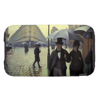 Calle de París día lluvioso de Gustave iPhone 3 Tough Protector
