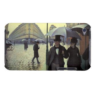 Calle de París día lluvioso de Gustave Barely There iPod Funda
