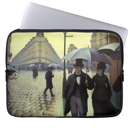 Calle de París, día lluvioso de Gustave Mangas Portátiles
