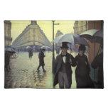 Calle de París, día lluvioso de Gustave Manteles Individuales