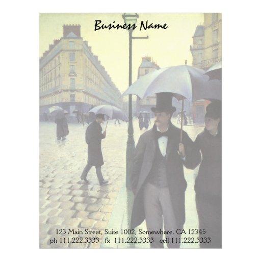 Calle de París, día lluvioso de Gustave Membrete