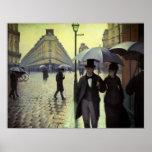 Calle de París, día lluvioso de Gustave Impresiones