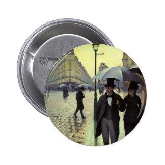 Calle de París, día lluvioso de Gustave Chapa Redonda 5 Cm