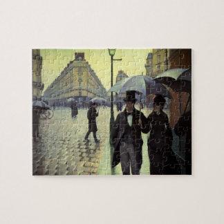Calle de París, día lluvioso de Gustave Puzzle