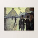 Calle de París, día lluvioso de Gustave Puzzles